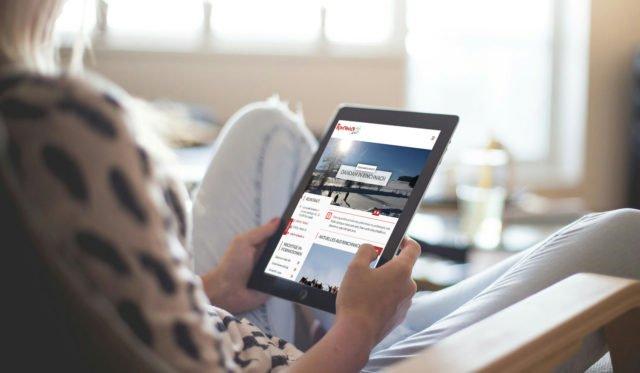 Die Rinchnach-Website auf einem Tablett