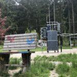 Riesenbank Fledermaus-Waldspielplatz