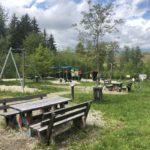 Sitzgruppen am Fledermaus-Waldspielplatz